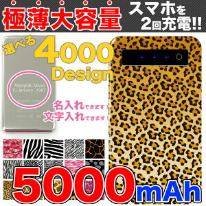 オリジナル モバイル バッテリー コンパクト アニマル デザイン ライオン シマウマ