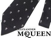 【送料無料】Alexander McQueen アレキサンダー マックイーン シルク ネクタイ ドット×スカル柄 406987-4Q053-1077 ブランド/メンズ/男性用