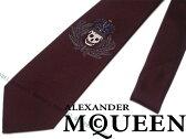 【送料無料】Alexander McQueen アレキサンダー マックイーン シルク ネクタイ ダークレッド 429467-4002E-6300 ブランド/メンズ/男性用