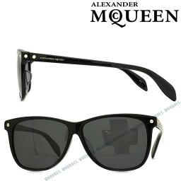 Alexander McQueen サングラス UVカット アレキサンダーマックイーン ブラック メンズ&レディース AMQ-0099SA-001 ブランド