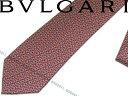 BVLGARI ブルガリ ネクタイ 242208 レッド 「DIVA INCASTRO」 シルクブランド ビジネス/メンズ/男性用