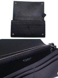 【送料無料】ブルガリ2つ折り財布ブラックBVLGARI38598ブランド/レディース/女性用
