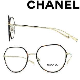 CHANEL メガネフレーム シャネル レディース マーブルブラウン×ゴールド 眼鏡 0CH-2189J-C395 ブランドの画像