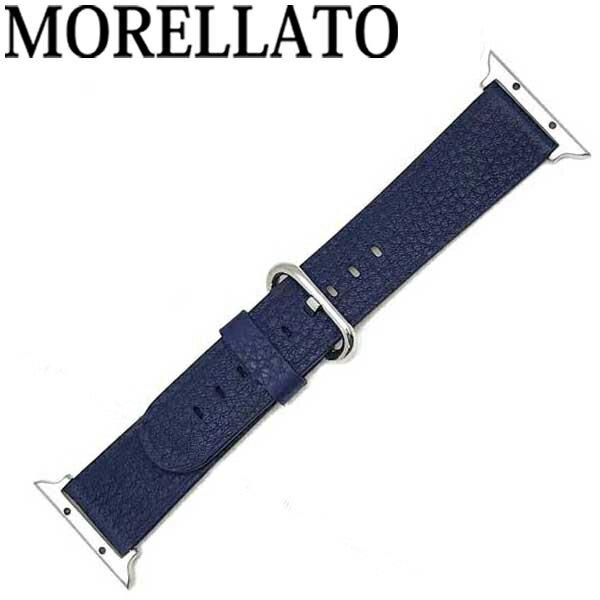 MORELLATO 腕時計ベルト モレラ—ト メンズ&レディース カーフレザー アップルウォッチ38mm専用 ダークブルー D4739-A-STRAP-CASSA-712-062-20 ブランド