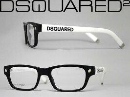 めがねDSQUARED2ブラック×ホワイトメガネフレーム眼鏡ディースクエアード2アイウェア0DQ-5031-01AWN0046