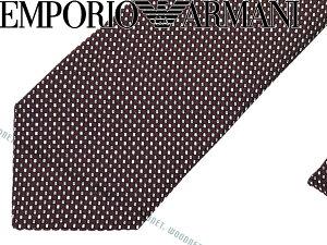 EMPORIO ARMANI エンポリオアルマーニ シルク ネクタイ バーガンディー 340049-7A622-00176 ブランド ビジネス/メンズ/男性用