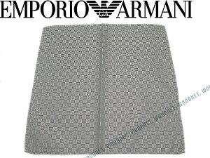 EMPORIO ARMANI ポケットチーフ エンポリオアルマーニ メンズ イーグルロゴ柄 シルク ライトグレー 340033-612-11341 ブランド