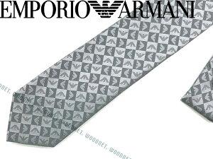 EMPORIO ARMANI ネクタイ エンポリオアルマーニ メンズ シルク ライトグレー 340049-612-11341 ブランド