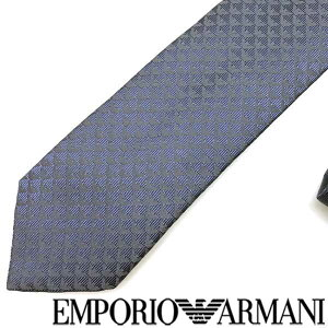 EMPORIO ARMANI ネクタイ エンポリオアルマーニ イーグルロゴ柄 シルク サファイア 340049-613-13833 ブランド ビジネス/メンズ/男性用