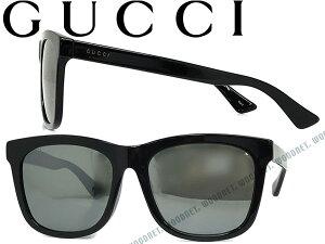 【人気モデル】GUCCI グッチ サングラス UVカット ブラックミラー メンズ&レディース GUC-GG-0057SK-001 ブランド