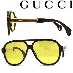 GUCCI サングラス UVカット グッチ メンズ&レディース ブラック イエロー GUC-GG-0463S-001 ブランド