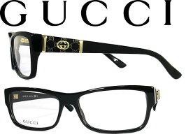 メガネフレームグッチGUCCI眼鏡めがねアイウェアブラック×シャンパンゴールドGUC-GG-3133-807WN0025