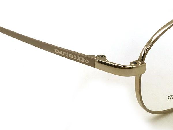 度付き・伊達・老眼鏡・カラー・パソコン用PCメガネレンズ交換対応/ MA-32-0016-01 眼鏡 ライトゴールド レンズ交換は6,800円〜 ブランド/ 女性用/ レディース/ マリメッコ marimekko メガネフレーム