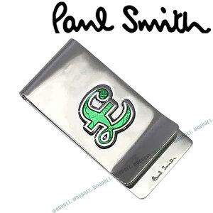 Paul Smith マネークリップ ポールスミス メンズ シルバー×グリーン M1AMONE-ACSIGN82 ブランド