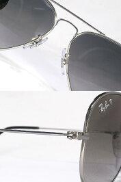 RayBanレイバングラデーションブラックサングラスシルバーフレームティアドロップタイプ偏光レンズアイウェア0RB-8041-086-M3