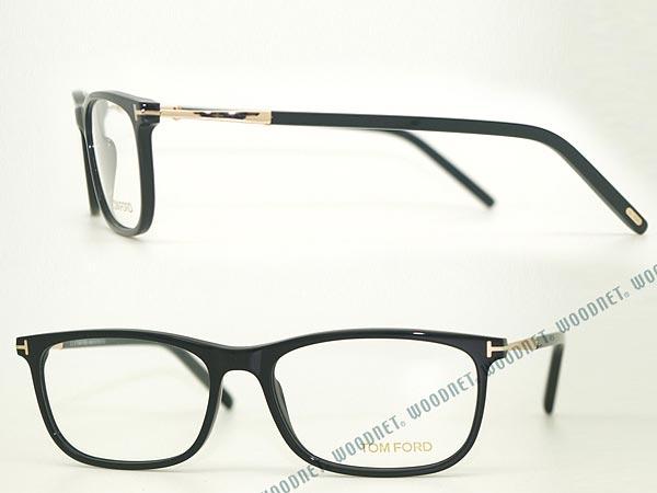 メガネフレーム TOM FORD ブラック トムフォード 眼鏡 めがね TF-5398-001 ブランド/メンズ&レディース/男性用&女性用/度付き・伊達・老眼鏡・カラー・パソコン用PCメガネレンズ交換対応/レンズ交換は6,800円〜:WOODNET