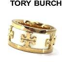 TORY BURCH トリーバーチ ロゴ ゴールド×アイボリ...