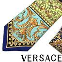 VERSACE ネクタイ ベルサーチ メンズ ル ポップ クラシークプリント シルク ブルー ICR7001-A233340-A7047 ブランド