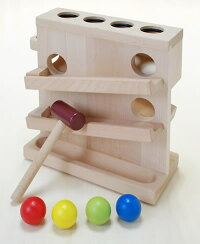 「とんとん玉落し」だいわ人気の木のおもちゃ出産祝い男の子女の子の贈り物、お誕生日のプレゼントに木製木おもちゃたたく叩く知育玩具玩具ギフト1歳:男1歳:女