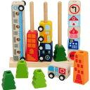 I'm TOY社 ソート&カウントシティ 木のおもちゃ 知育玩具 出産祝い 男の子 女の子 木のおもちゃ ギフト誕生日 1歳 2歳 3歳 男 女 誕生日プレゼント おもちゃ オモチャ 名入れ