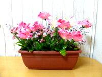 薔薇プランター【造花】【装飾】【デイスプレイ】