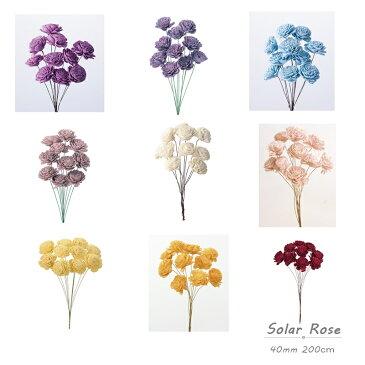 ソーラーローズ ドライフラワー 1束 ソーラーフラワー アンティーク カラー ドライ 大人可愛い  ハーバリウム 花材 素材 スワッグ リース ドライフラワー スワッグ リース ハーバリウム 資材 小さい 造花