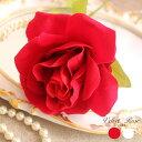 バラ 薔薇 造花 インテリア 最安値に挑戦 造花 薔薇 シングル スプレー 全長60cm 花径10cm ベルベット生地 ベルベットローズ 動画有