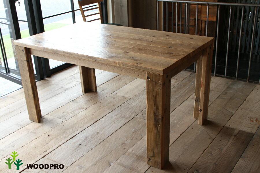 OLD ASHIBA(足場板古材)Aタイプ テーブル幅1310〜1400mm×奥行800mm×高さ710mm(高さ指定は300〜750mmまで対応可) 塗装仕上げ【受注生産】:WOODPRO