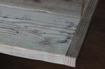 OLD ASHIBA(足場板古材)フリー板(幅つなぎ材)厚35mm×幅700mm(4枚あわせ)×長さ1610〜1700mm 無塗装※縁あり(標準タイプ)[受注生産] 天板 キッチン カウンター ダイニング テーブル 棚板 デスク DIY オーダー アンティーク 【特大商品】