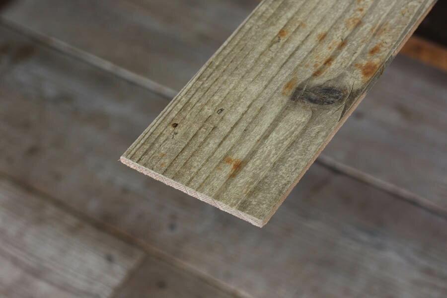 OLD ASHIBA(足場板古材)フリー板【T-5シリーズ】厚5mm×幅90mm×長さ810〜910mm 無塗装[受注生産] 【小型商品】