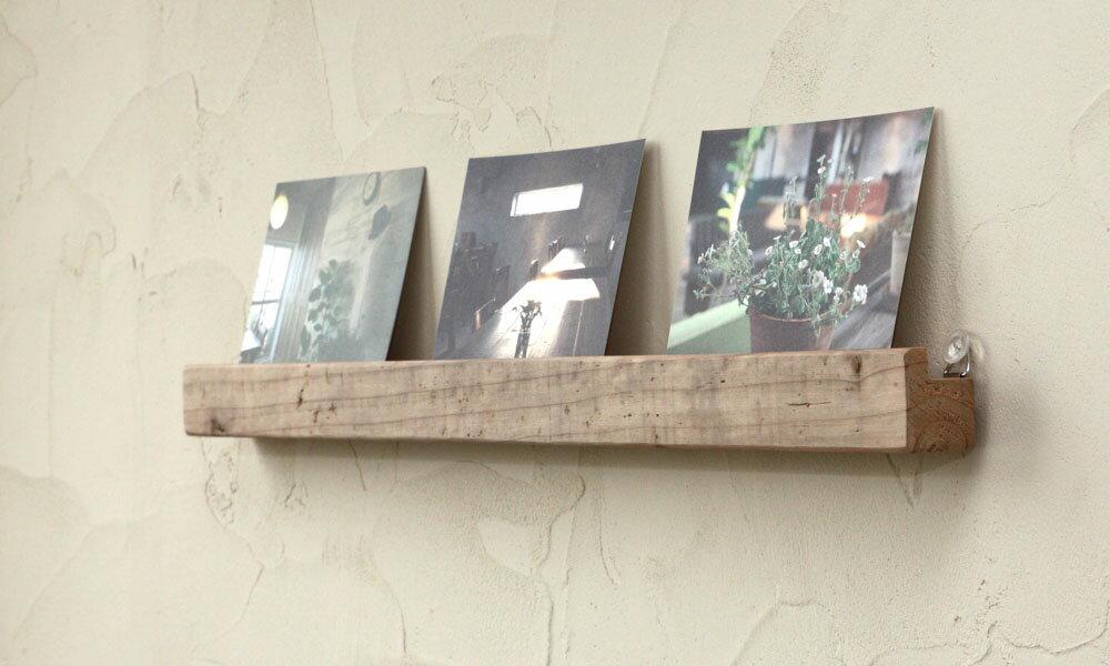 OLD ASHIBA(足場板古材)壁掛けレール(ウォールレール)幅600mm 無塗装【アンティーク風】 【小型商品】