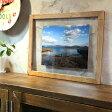 OLD ASHIBA(足場板古材)イージーフレーム(額) A2サイズ 無塗装 ※アクリル板/厚み1ミリ×2枚付き