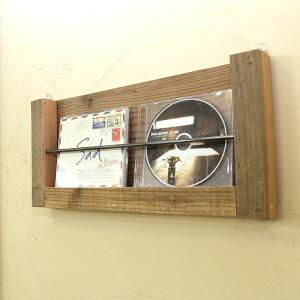 OLD ASHIBA(足場板古材)壁掛け たてかけ レターラック1段タイプ(幅400mm) 無塗装【アンティーク風】 【小型商品】