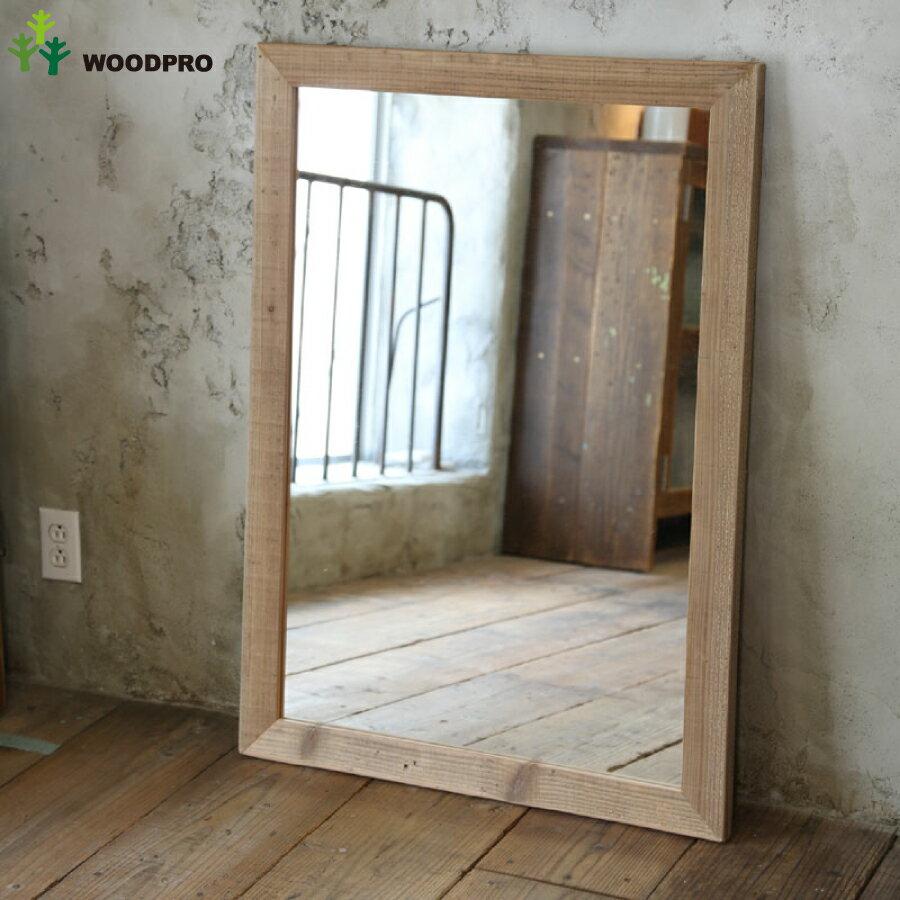 OLD ASHIBA(足場板古材)ミラー(鏡)A型 XLサイズ 無塗装1020mm×730mm【アンティーク風】〈受注生産〉 【大型商品】