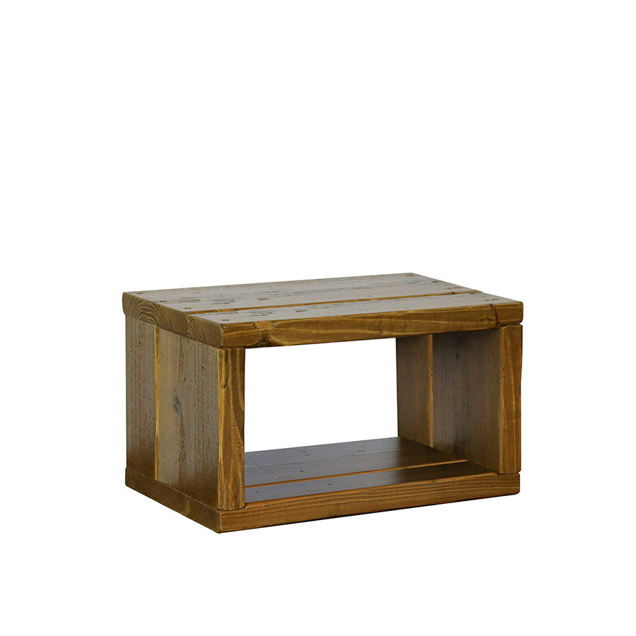 OLD ASHIBA(足場板古材)ラック幅450mm×高さ266mm×奥行295mm 塗装仕上げ【木製ラック】【キューブボックス】 【小型商品】