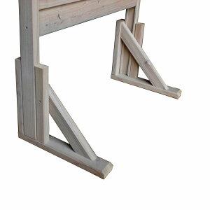 【脚単体】規格型プランター付きフェンス自立補助脚2個入(高さ1300mm&1500mmタイプ用)●受注生産品A