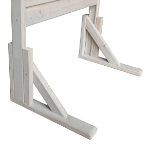 【脚単体】規格型プランター付きフェンス自立補助脚2個入(高さ1800mmタイプ用)●受注生産品A