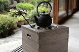 桐の箱火鉢セット(フタ、五徳、火箸、灰ならし、木炭灰付き)