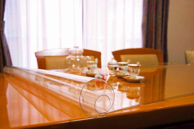 別注 透明 テーブルマット テーブルクロス (1mm厚)90X165以内 テーブルカバー デスクマット