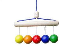 乳児が認識しやすい5色のボールが人気です!ネフ社(naef)おしゃぶりベビーボール