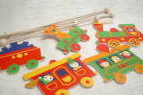 ヘラー社の木製モビール5両の汽車【おもちゃ歳から】【子どもお誕生日知育玩具プレゼントキッズ子供ゲーム木のおもちゃギフト出産祝い赤ちゃん男の子女の子】