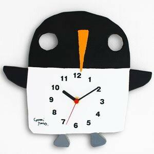 五味太郎さんの絵本の世界観をそのまま子ども部屋に五味太郎デザイン 絵本の時計ペンギン【送...