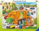 ラベンスバーガー社パネルパズルゴミ収集車(35ピース)