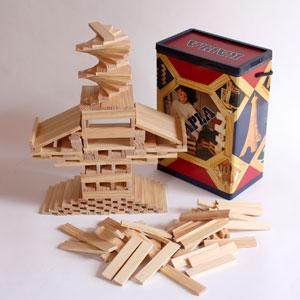 素朴でシンプルな白木の板カプラ人気の家庭用サイズです魔法の板 カプラ(KAPLA)カプラ200 お...