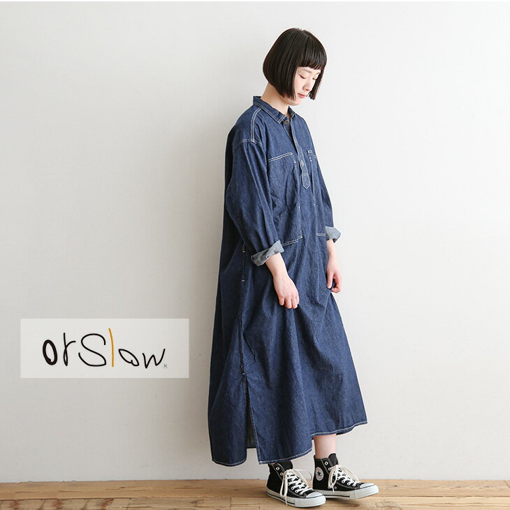 レディースファッション, ワンピース 3700-9541-81 orSlow()PW ONE PIECE SHIRT- PWoSISPRING SALE 30OFF42011159