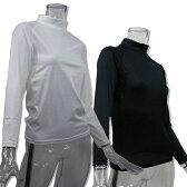レディース 長袖 コンプレッションシャツ 4サイズ(S/M/L/LL)2色より (ハイネック/吸汗速乾/伸縮素材/UV加工)
