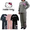 Hello Kitty ハローキティ レディース 裏起毛 スウェット 上下セット (M/L/LL) (64806) ルームウェア ファッション 可愛い 女の子 暖かい パジャマ【あす楽対応】