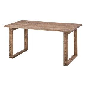 〔木製〕北欧デザイン150cm幅ダイニングテーブル〔ブラウン〕