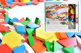 【すぐに使えるクーポン配布中】【特割】ASパターンブロック パターンブック付 アントン・シーマー社 木のおもちゃ 知育玩具 教材 構成 AS7001