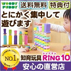 【知育玩具】★送料無料【直営店】木のおもちゃ WOODYPUDDY リング10 RING10(…